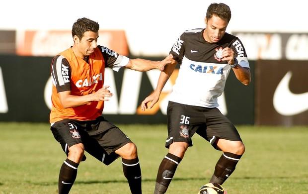 Maldonado e Ibson em treino do Corinthians (Foto: Daniel Augusto Jr / Agência Corinthians)