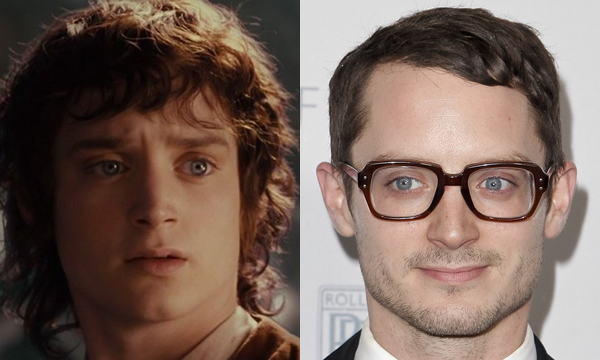 Elijah Wood como Frodo e atualmente (Foto: Divulgação)