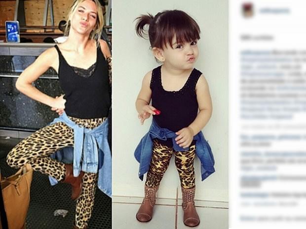 Alice postou foto com roupas semelhantes as usadas por Giovana Ewbank  (Foto: Reprodução/ Instagram/ Alice Albuquerque)