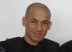 Eduardo Herdy, lutador de MMA e policial civil, com o treinador Ricardo Tinha (Foto: Arquivo Pessoal)