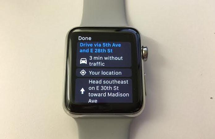 Google Maps já pode ser utilizado no Apple Watch (Foto: Reprodução/CNET)