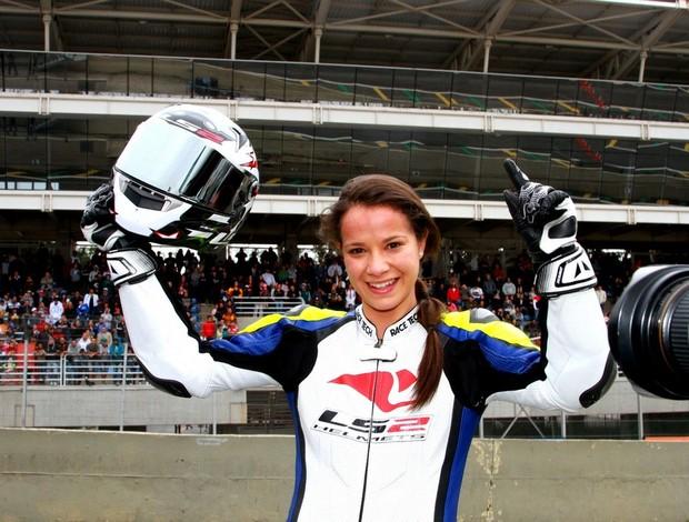 Sabrina Paiuta Brasileiro de Motovelocidade (Foto: Sérgio Sanderson / Divulgação)