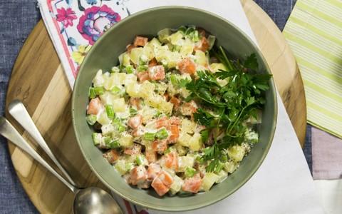 Como fazer salada de maionese