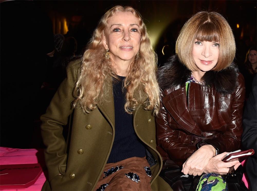 Franca Sozzani e Anna Wintour juntas na fila A em Paris (Foto: Getty Images)