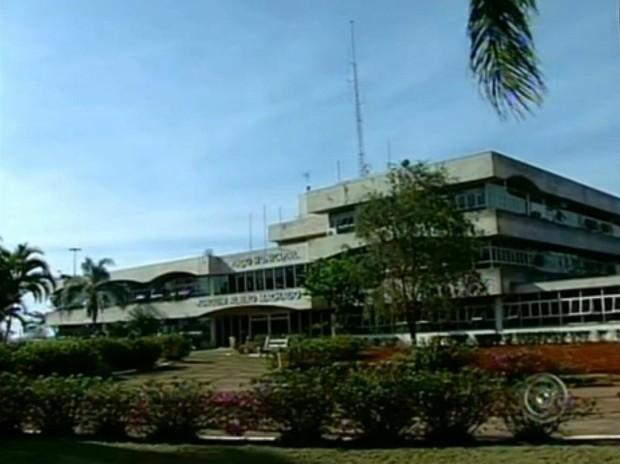 Fachada Prefeitura de Itapetininga 2013 (Foto: Reprodução TV Tem)