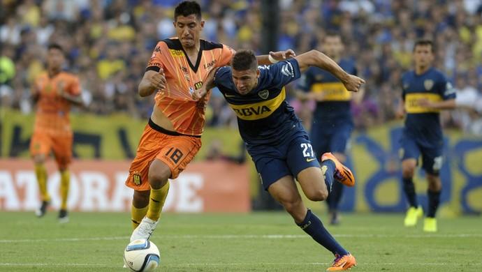 Calleri E Jonatan Blanco, Boca Juniors x Olimpo (Foto: AFP)