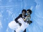 Juliana Paiva e Rodrigo Simas se casam em ensaio fotográfico debaixo d´água