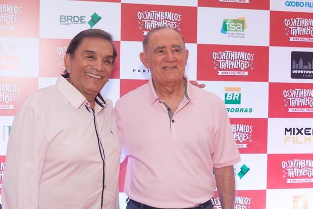 Dedé Santana e Renato Aragão (Foto: Anderson Barros/EGO)