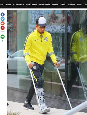 Gabriel Jesus Manchester City (Foto: Reprodução/Mirror)