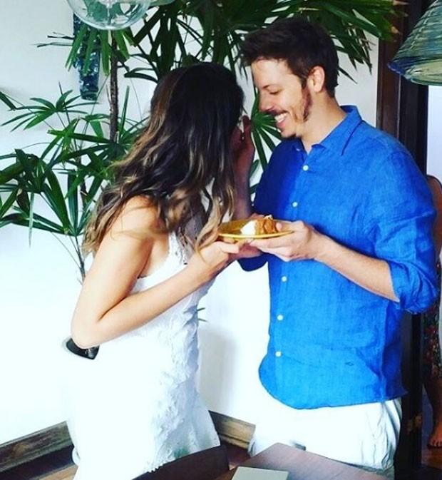 Nataly Mega e Fábio Porchat (Foto: Reprodução Instagram)