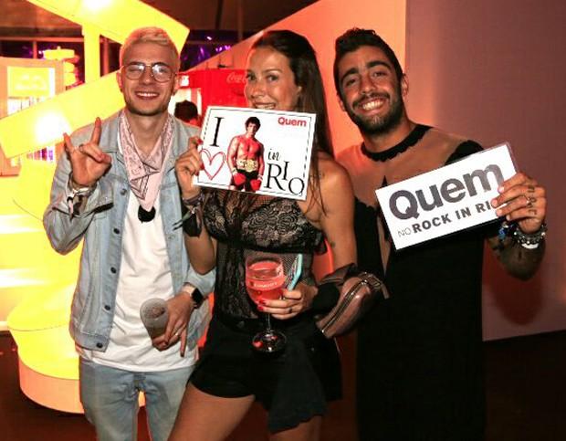 Leo Picon, Luana Piovani e Pedro Scooby (Foto: Marcos Rosa/Ed. Globo)