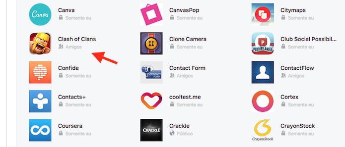Acesso às configurações de um aplicativo vinculado ao Facebook (Foto: Reprodução/Marvin Costa)