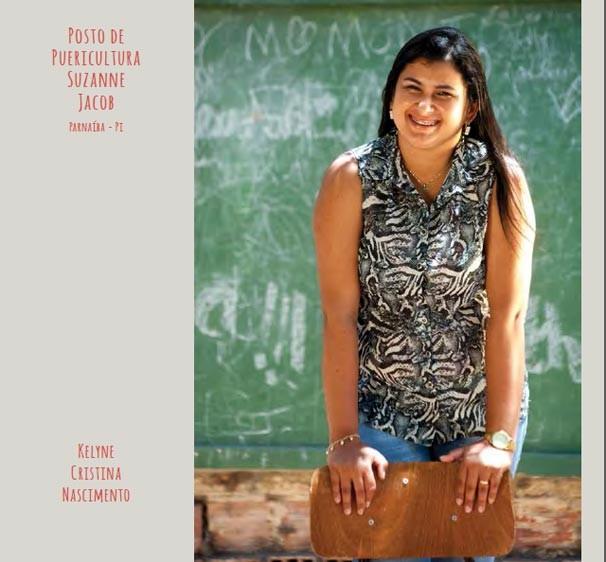 Piauiense Kellyne Nascimento e do Posto de Puericultura são exemplos no livro de 30 anos do Criança Esperança (Foto: Reprodução)