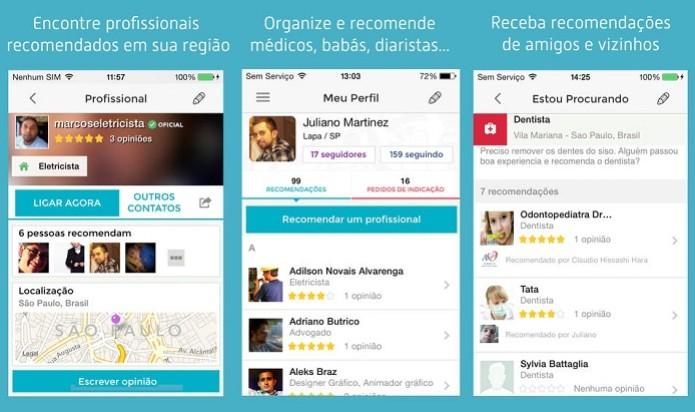 Encontre profissionais recomendados com esse app (Foto: Divulgação/AppStore) (Foto: Encontre profissionais recomendados com esse app (Foto: Divulgação/AppStore))