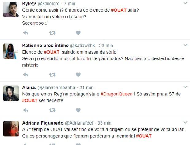 Fãs comentam saída de atores de OUAT (Foto: Reprodução)
