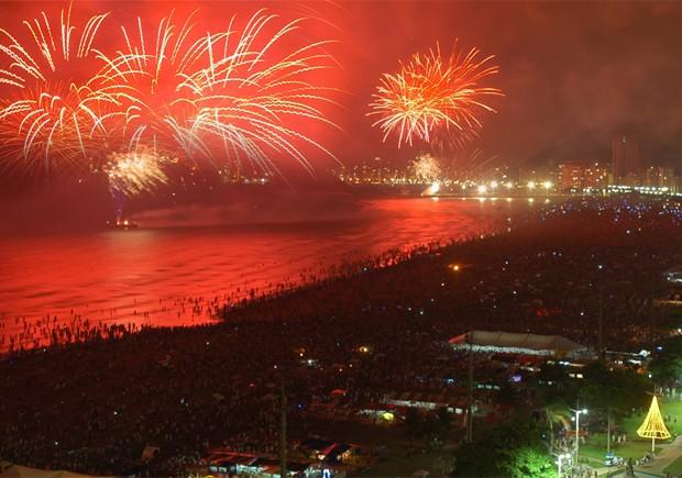 Queima de fogos do Réveillon vai durar cerca de 15 minutos em Santos, no litoral de São Paulo (Foto: Marcelo Martins/Prefeitura de Santos)