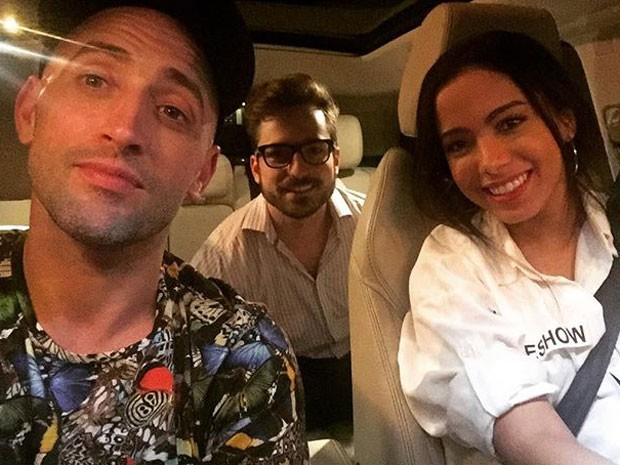 Paulo Gustavo com o namorado, Thales Bretas, e Anitta após jantar na Zona Sul do Rio (Foto: Instagram/ Reprodução)