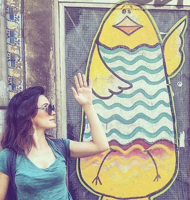 Bianca Bin na Rua de São Bento, em Lisboa (Foto: Reprodução/Instagram)