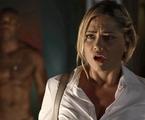 Ellen Rocche e Rafael Zulu em cena de 'O outro lado do paraíso' | TV Globo