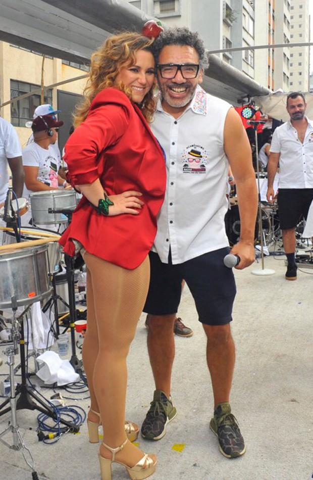 Maria Rita, convida especial do bloco, e Simoninha, puxador (Foto: Samuel Chaves/Brazil News)