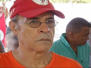 Integrante do Movimento Humanos Direitos, o ator Osmar Prado foi até Marabá acompanhar o julgamento. (Foto: Reprodução/TV Liberal)