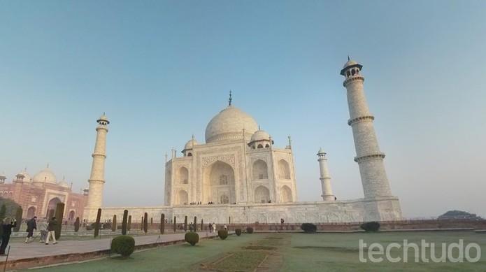 Construção importante em Agra, o Taj Mahal pode ser visitado de perto no Google Street View (Foto: Reprodução/Barbara Mannara)