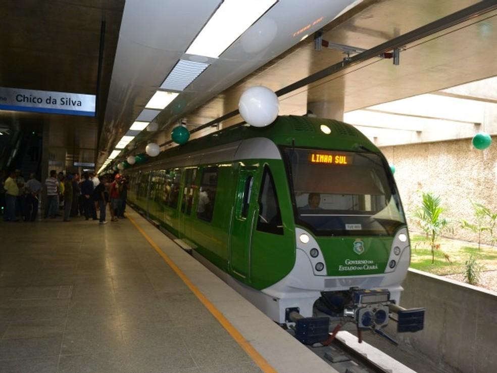 Metrô de Fortaleza passa a utilizar sistema de cartões recarregáveis. (Foto: André Teixeira/G1)