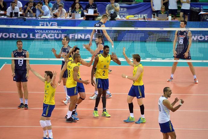 Brasil x Itália, Liga Mundial de Vôlei (Foto: Divulgação / FIVB)