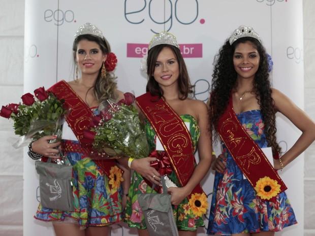 As três finalistas (Foto: Isac Luz/ EGO)