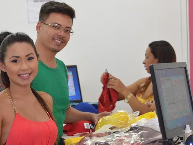 Anderson e Adriana também decidiram investir na revenda de lingerie (Foto: Divulgação/G. Gonçalves)