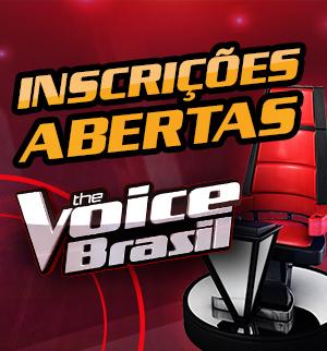 Seja a próxima voz do Brasil. Inscreva-se agora no The Voice! (The Voice Brasil/TV Globo)