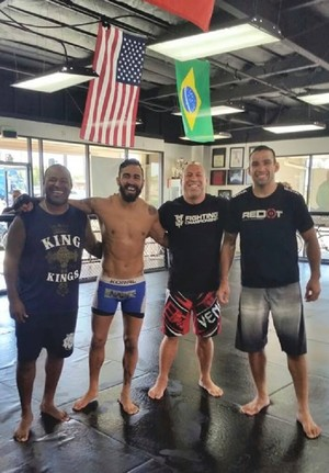 Pepey, Werdum, Wanderlei Silva e Rafael Cordeiro Kings MMA (Foto: Arquivo Pessoal)