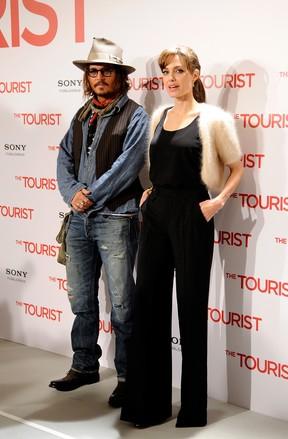 Johnny Depp e Angelina Jolie em 2009 (Foto: Agência Getty Images)