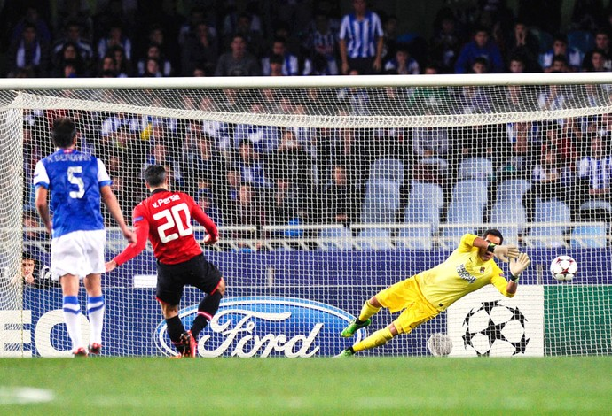 Van Persie Real Sociedad e Manchester United (Foto: Getty Images)