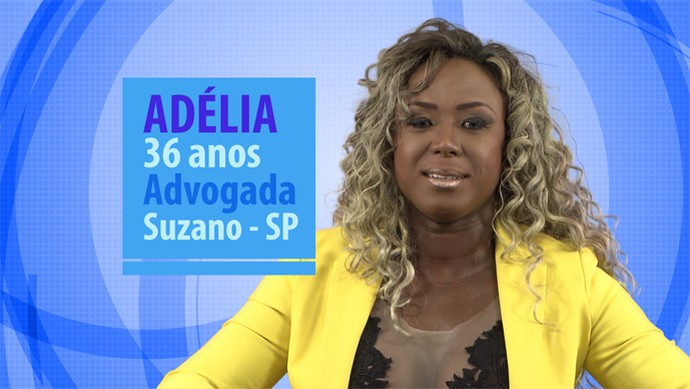 Adélia participante do BBB16 (Foto: Gshow)