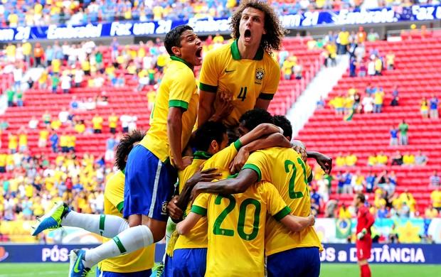 Brasil comemoração gol Austrália (Foto: Getty Images)