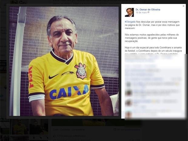 Foto divulgada no perfil de Osmar no Facebook (Foto: Reprodução Facebook)