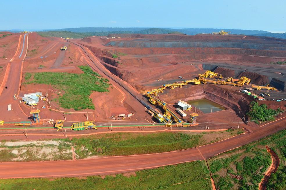 Vista aérea da mina do S11D, maior projeto de mineração do mundo (Foto: Divulgação)