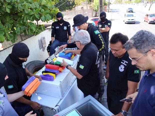 Droga apreendida seria comercializada em Teresina (Foto: Divulgação/Polícia Civil)