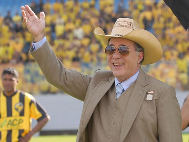 Tony Ramos na pele do prefeito corrupto Reinaldo (Foto: Zé Paulo Cardeal/ TV Globo)