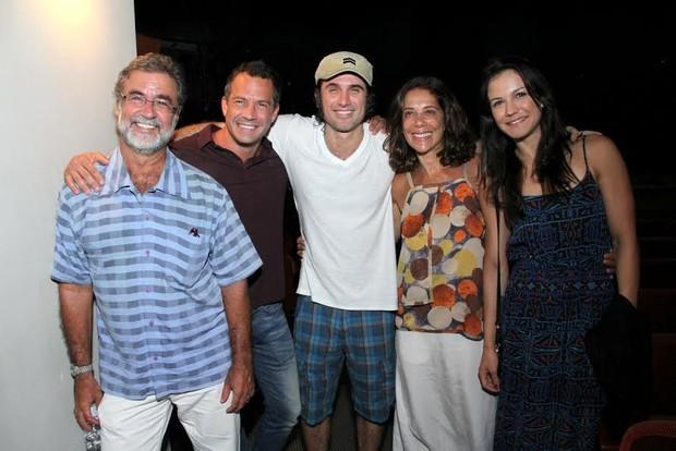 Malvino Salvador, Eriberto Leão, Ângela Vieira e Kyra Gracie (Foto: Thyago Andrade / FotoRioNews)