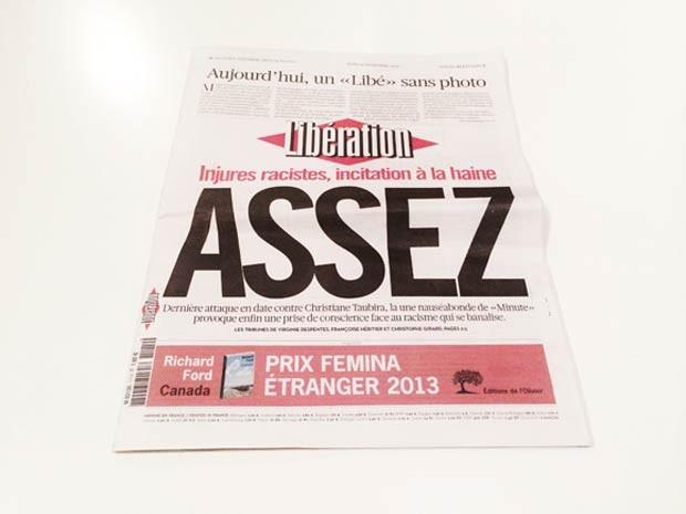 Capa do 'Libération' na quinta-feira (14) (Foto: Reprodução/British Journal of Photography)