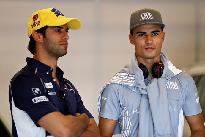 Felipe Nasr e Pascal Wehrlein no paddock do GP dos EUA (Foto: Getty Images)