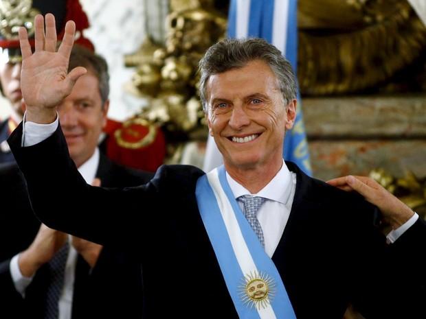 O presidente argentino eleito Mauricio Macri após posse no congresso em Buenos Aires, na Argentina (Foto: Marcos Brindicci/Reuters)