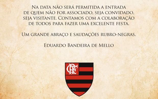 Comunicado Flamengo Aniversário Zico (Foto: Divulgação)