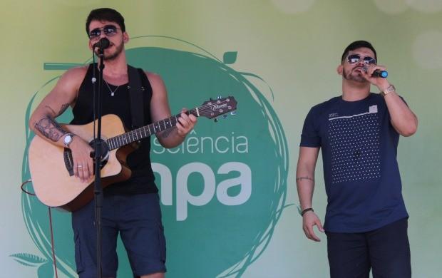 Rodrigo e João Victor participaram do evento (Foto: Katiúscia Monteiro/ Rede Amazônica)