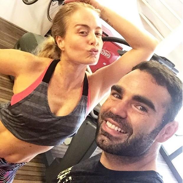 Angélica e o personal trainer Chico Salgado (Foto: Reprodução/Instagram)