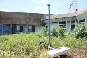 Matagal toma conta do terreno da obra inacabada (Foto: Halex Frederic/G1)