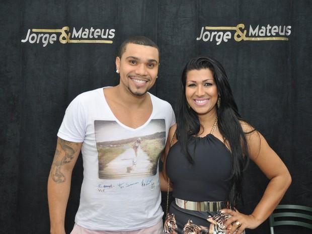 Naldo e Moranguinho em show no Rio (Foto: Bruno Henrique/ Divulgação)