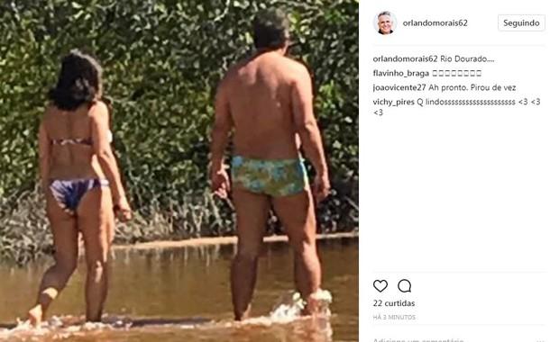 Orlando de Morais e Gloria Pires (Foto: Reprodução/Instagram)